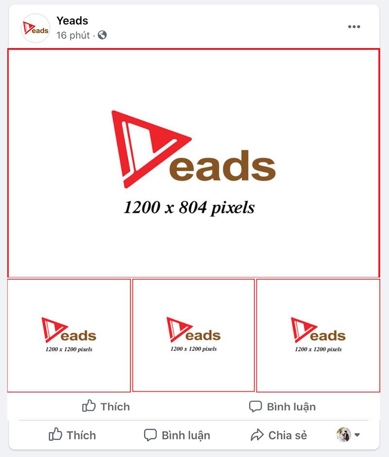 Kích thước banner quảng cáo facebook ngang